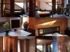 Interior of a log home