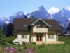 Log home in Switzerland - from laminated logs