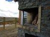 Terrace fireplace on top of the mountain - Vradal, Norway